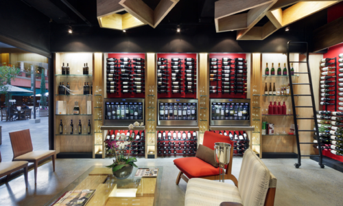eno elite wine dispenser system in a chic winebar